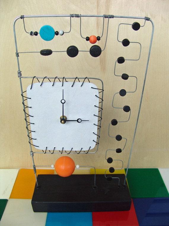 Abstract Kinetic Art Clock Mixed media