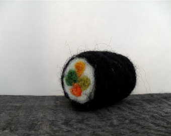 Cat toy catnip sushi, needle felted