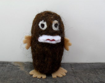 Catnip Cat toy baby big foot sasquatch  needle felted