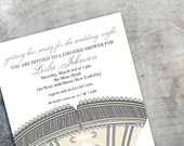 Lingerie Shower Invitation - Getting Her Ready for the Wedding Night (set of 30)
