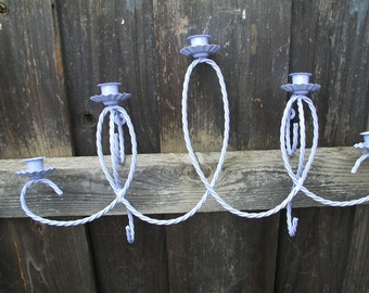 Upcycled Lavendar Wall Candle Holder Sconces Shabby Country