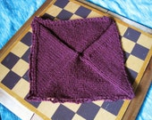 Afghan Square in Red Wine Blanket Block
