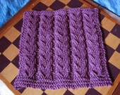 "10"" Afghan Square in  Luscious Plum Blanket Block"