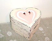 Swan love, Jewelry box  Ring Box, Shabby Chic, Old fashioned, Rustic, Heart Box