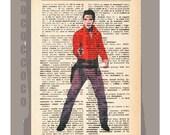 ELVIS Presley -ORIGINAL ARTWORK printed on Repurposed Vintage Dictionary page- Free Domestic Shipping