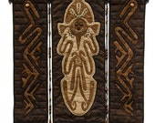 "Quilted Wall Hanging - OCEANIC SPIRITS-25""w x 23""h"