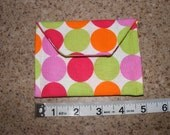 Happy Small Polka Dot pouch/ receipt holder and organizer