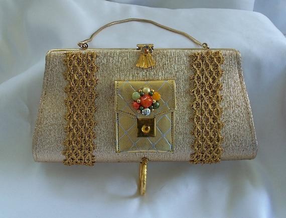 Gold Leaf Clutch Purse, Wedding Purse, Bridesmaid Clutch ...  Formal Gold Clutches