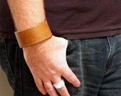 Custom Heavy Duty THICK Leather Cuff / Bracelet