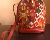50% Off Sale: VINTAGE - EM MAY Handwoven Turkish Kilim Rug Purse