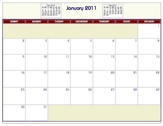 Blank Calendar With Room To Write : Printable calendar with room to write on autos post