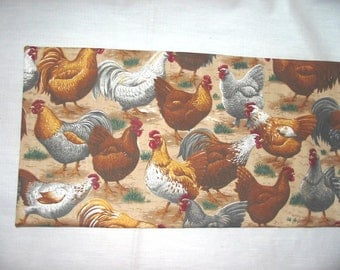 CORN SACK Therapeutic Hot Cold BAG Roosters (tan)