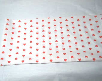 CORN SACK Therapeutic Hot Cold Bag Red Hearts on White