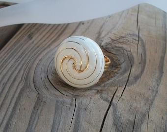 SALE Golden Spiral Ring