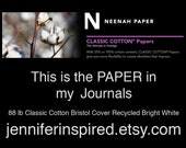 Paper Sample of Neenah Classic Cotton 88 lb Cover Bristol, Recycled Bright White
