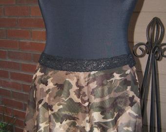 Dance Ballet Skirt All Stretch Short Wrap Skirt in Camouflage
