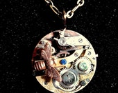 Miss. B. Abigale Quinn's  Steampunk Pendant with chain  in hand stained box