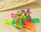 Beth - Rainbow Chinese Knot Sea Turtle - as Keychain, Phone Charm or Table Decoration - UNIQUE