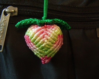 Chinese Knot Peach, Large and Medium Size Pair - Rainbow Color - as Table Decoration or Hanging