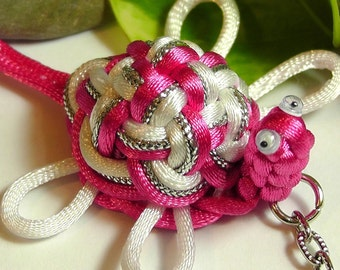 Chinese Knot Sea Turtle - white feet - as Keychain, Phone Charm, Bag Hang or Table Decoration