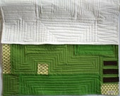 Baby/Toddler Blanket-Wall Hanging, Modern Green and Brown Quilt: FREE SHIPPING