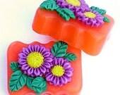 Purple Asters Glycerin Soap - Moonlight Path type Fragrance