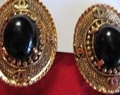 "Faux but Fabulous vintage ""Chanel"" earrings-free shipping"