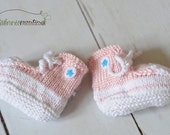 Unique baby girl gift - All Star High Tops Converse Inspired Baby Booties, perfect for a punk rock baby shower, pink, rocker girl