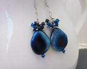 20-76 Sapphire Blue Peacock Earrings