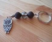 60-04 Smokey Topaz Owl Keychain