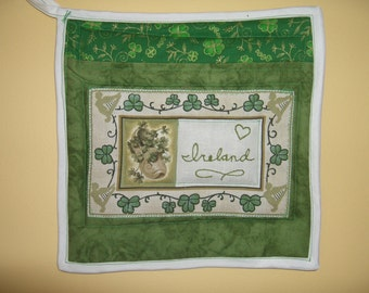LOVE Ireland - mini quilt or wall hanging - with a heart!
