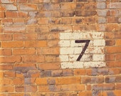8 x 10 PHOTOGRAPHIC PRINT. 5, 6, 7 OR 8. BRICK NUMBERS