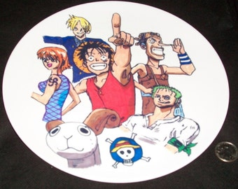Fun to Use Mealtime Anime 10 Inch Collector Plate - One Piece Gang