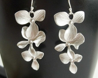 Wedding Jewelry - Orchid Earrings - Wedding - Bride Bridal Bridesmaids Gift