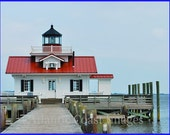 Roanoke Marshes Lighthouse Nature Photo Greeting/Note Card or Photograph