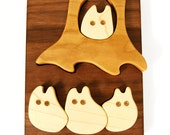 Bunnies in the Woods Puzzle, inspired by Peter Rabbit, a montessori and waldorf classic wooden toy