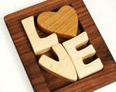 Love Puzzle, wood art puzzle