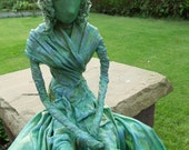 The Green lady, Garden Sculpture for a Ledge or Shelf.