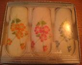 SALE Set of three ladies vintage handkerchiefs