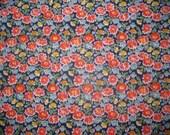 SALE Vintage Bright Flowers Fabric 2 Yards