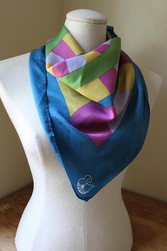 1970s Silk scarf by Assoc