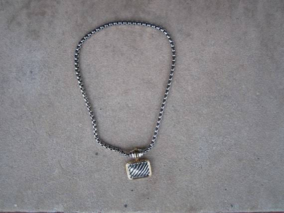 David Yurman Look- a- Like Necklace Beautiful worn Vintage