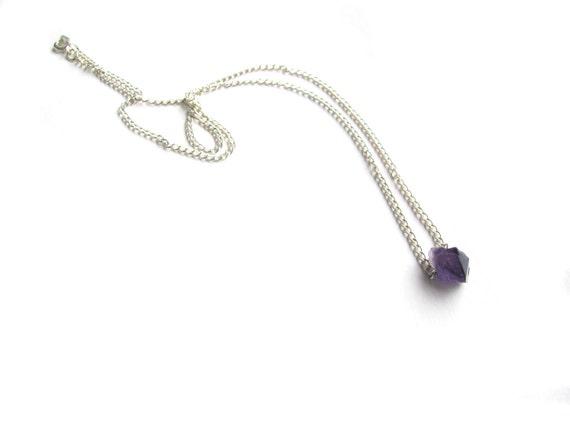 Raw Amethyst Small Gemstone Necklace