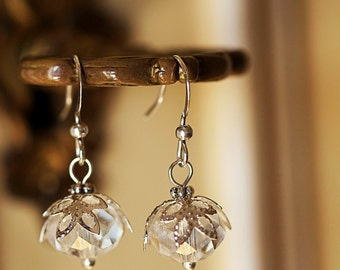 Dancing In The Rain ... Crystal Earrings // bridal jewelry, bridal earrings, bridesmaids earrings, pure poison, pure crystal, crystal bridal