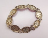 1920s Chinese Sterling Silver Bracelet Good Luck