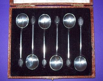 HM 1925 Coffee Spoons English Sterling Silver Birmingham