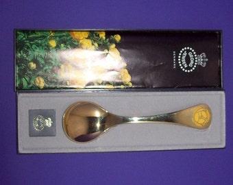 Georg Jensen Gilt Sterling Silver Spoon Globeflower 1978