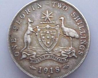 Australia 1918 Silver Coin Brooch