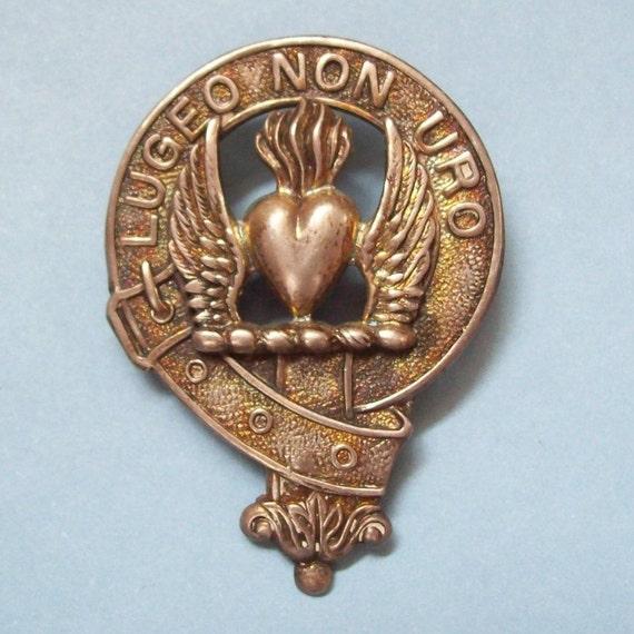 Smith Scottish Clan Badge Sterling Silver Vintage 1954