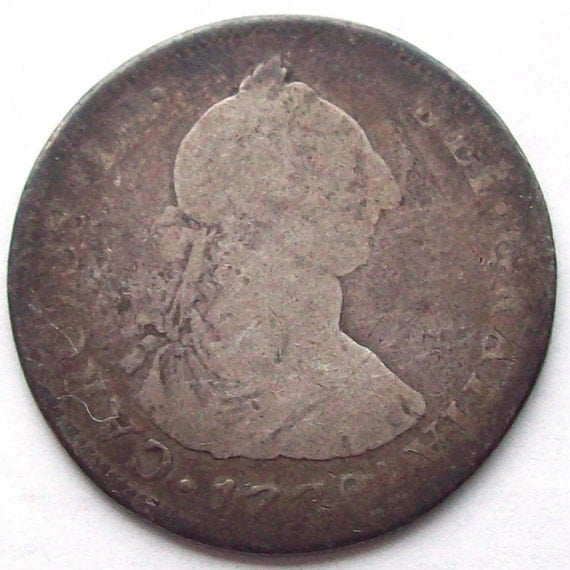 1779 Spanish Colonial 4 Reales Silver Coin